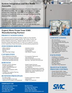 SMC System Integration Flyer